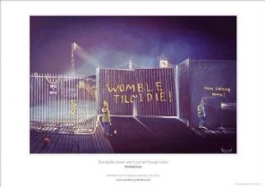 Wimbledon Plough Lane - 'The LIghts Never Went Out' A3  unframed print